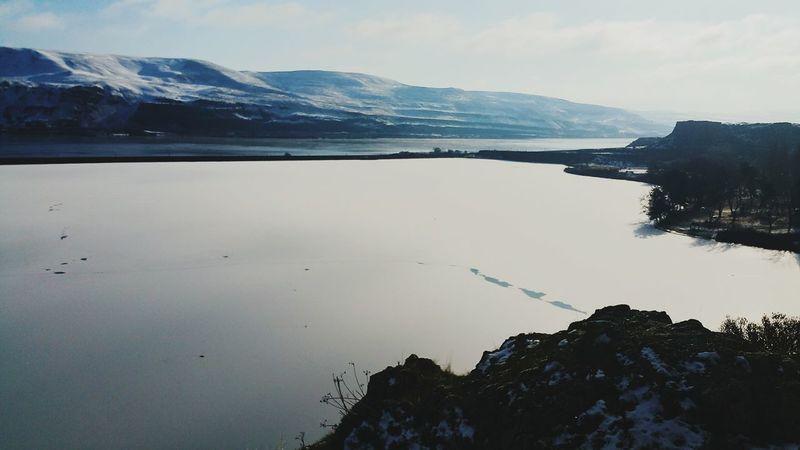 Frozen horsethief lake