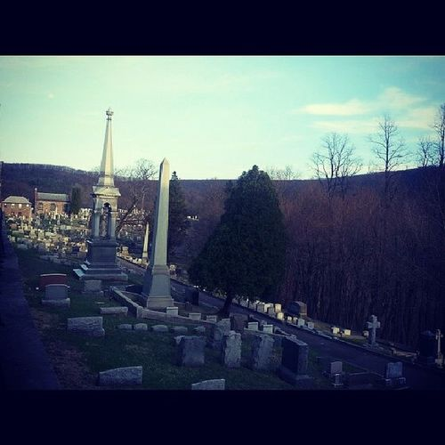 Cemetery path Cemetery Mauchchunk Asapacker Victorian mountains monuments mausoleum poconos tombstone city ofthedead gothic mountains