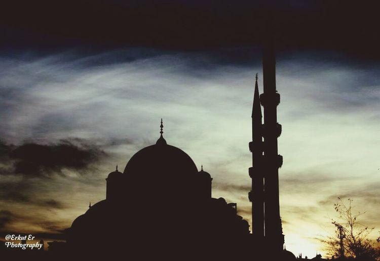 Istanbul Turkey Sunset Silhouettes Mosque Gunbatimi