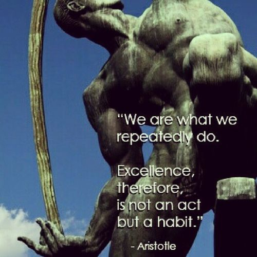 We are what we repeatedly do. Vimquote