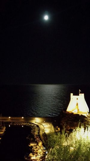 Sperlonga Sea Sky Outdoors Trip Perspective Boats Tree Green Nature Architecture Full Moon Moon Illuminated Water Night Tranquil Scene Tranquility Travel Destinations Moonlight Scenics Glowing Dark Vacations Finding New Frontiers
