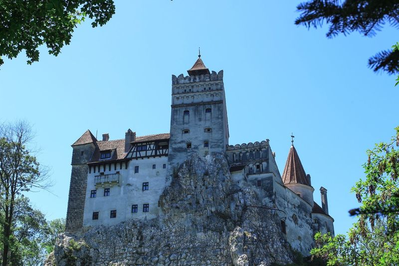 Dracula castle Bran Castle Dracula Building Exterior Built Structure Sky Architecture Low Angle View Tree Building