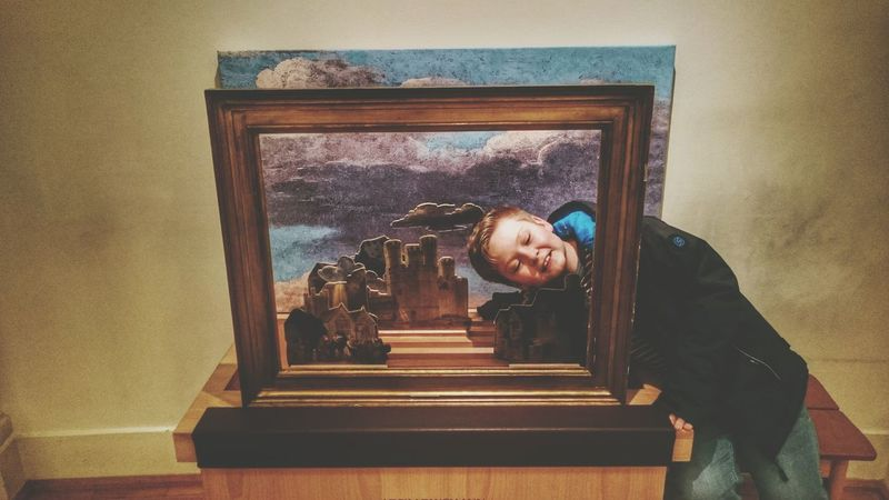 Son People Art Frame Framed ArtWork Photography People Watching