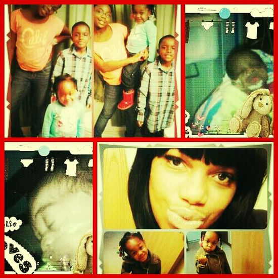 ME N MY BEAUTIFUL FAM 10 YR NAY 2YR Kori 5yr Dada 3mo Twins Taylor Tyler identical gurls Muah ilove thm with all my heart