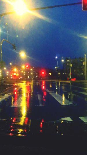 City Stalowa Wola Poland Night Lights Citystreets