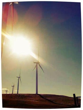 Wind Turbines Oregon and Washington border Oregon Washington On The Road Travelling
