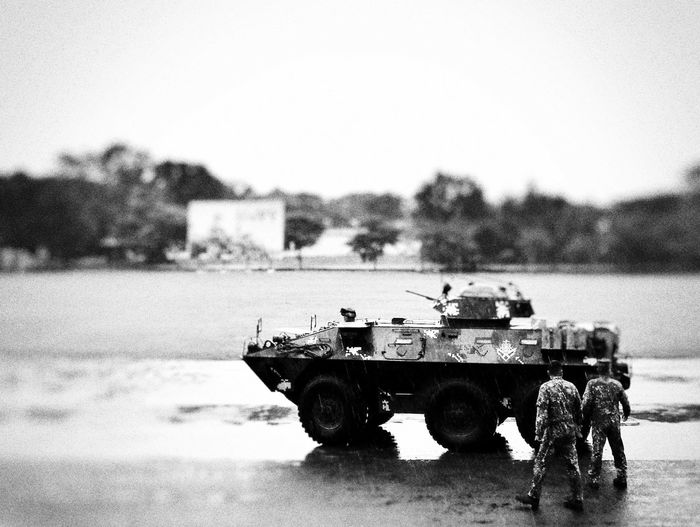 Imagine Miniture Photogrpahy Photography Themes Huawei P9 Leica Analogue Photography Huaweiphotography Tiltshiftphotography Travel Destinations War Tanks New Talent Streetphoto_bw Streetphotography_bw Monochrome Monochrome Photography Black And White Photography Black And White Collection  Black And White Philippines Photos Military Uniform Military