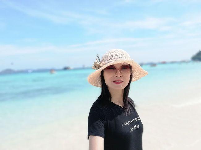 EyeEm Selects Sand Sea Beach Sun Hat Sky Vacations Summer Young Women