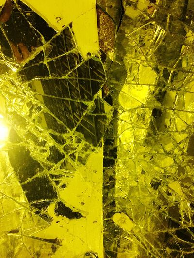 Yellow Abstract Backgrounds Textured  Cracked Pattern Damaged Close-up Full Frame No People Fragility Outdoors Day Paris Unreal Illuminated Streetphotography Arty By Night Broken