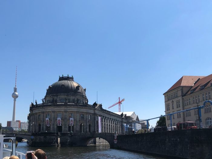 IPhone X Photography IPhone X Museumsinsel Fernsehturm Berlin  Berlin Architecture Building Exterior Built Structure Sky City Water Building Nature Tourism Travel Copy Space History Travel Destinations Clear Sky The Past Nautical Vessel No People Mode Of Transportation Day Outdoors