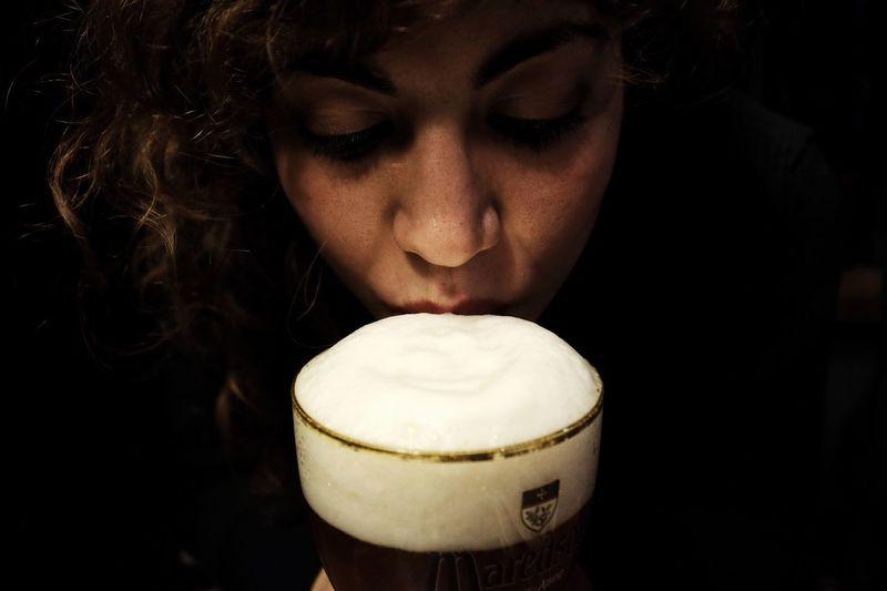 1/ Saint Patrick's Day / Saint Patrick's Day Saint Patrick Beer Birra Girl Woman Fuji Fujifilm X100 X100t Classic Chrome Portrait Italy Italian Ragazza Italia Ireland Irlanda 365 Project365 365 Day Challenge Light Shadow