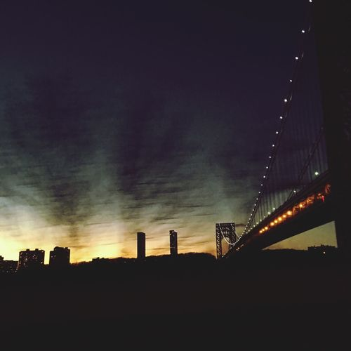 Sky City Silhouette Sunset Urban Skyline