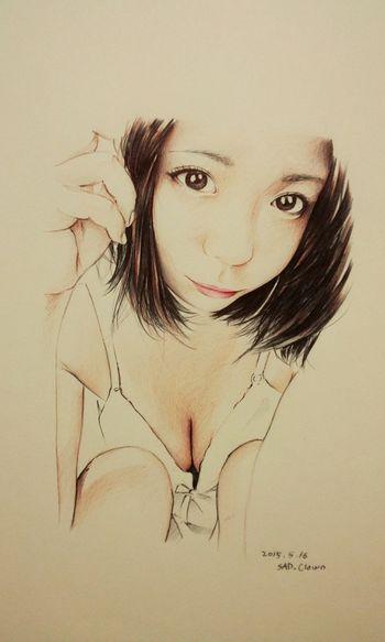 鶴田かな Drawing Draw Paint Painting Ballpoint Esedy