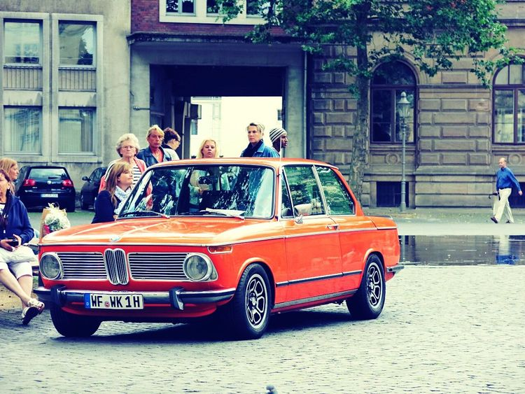 So 70s Vintage Vintage Cars Bmw 70s Orange Car Brunswick Braunschweig Medium Group Of People