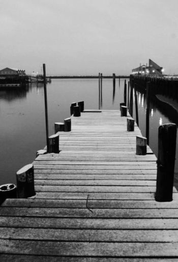 The beauty of frozen Pier Sea Nature Tranquil Scene Wooden Post Tranquility