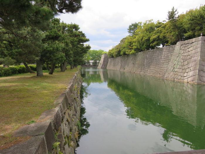石垣 堀 二条城 京都 日本