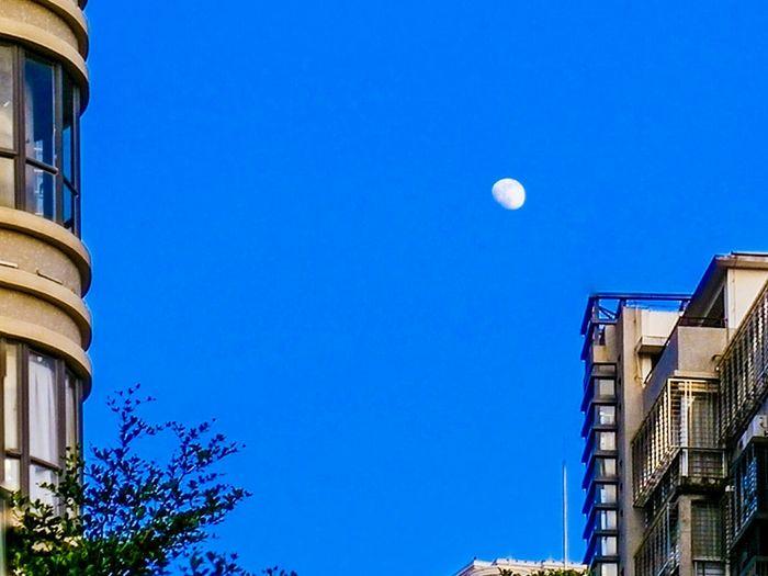 Architecture Building Exterior Blue Moon Clear Sky Sky Taking Photos Hi! Hello World