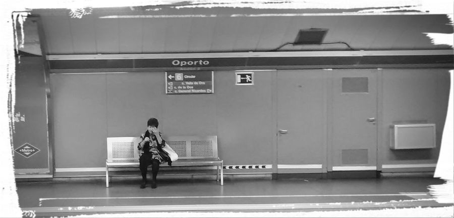 When a woman loves blah blah/ She waits for the right train on the wrong platform/ but the woman knows to wait for real/ blah-blah... Dem Fontana Peoplephotography Metro Madrid Waiting For A Train