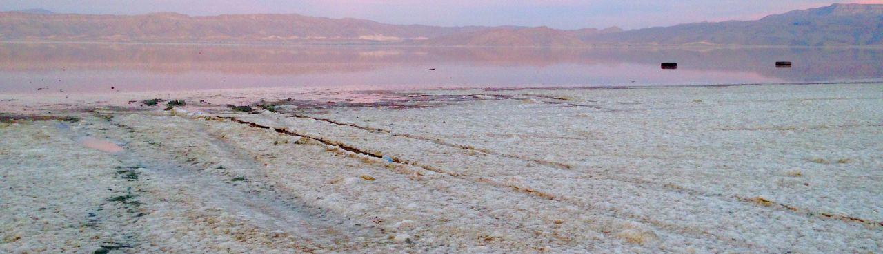 Pink lake Shiraz, Iran Sunset SaltLake Pink Pinkwater Lake Iran