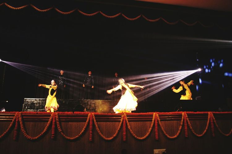 EyeEm Selects Indian Culture  Classical Fussion Indian Kathak Jaaz Katjazz Beauty Exoression DANCE ♥ Real Peolpe Young Girl Celebration Night Hanging Performance