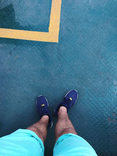 Feet on Ferry Human Body Part Personal Perspective Shoe Standing Lifestyles Men