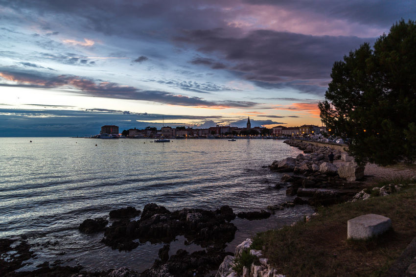 Poreč by night... Beautiful Sky Croatia Porec, Croatia Poreč Coast Poreč Town Architecture Beautiful Skies Beauty In Nature Building Exterior Built Structure Cloud - Sky Coast Croatian Town Dramatic Sky Nature Outdoors Porec Rocks Scenics Sea Sky Sunset Tranquil Scene Travel Destinations Water