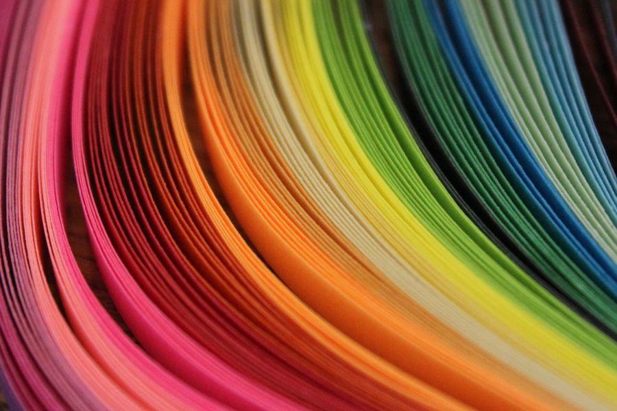 Papercraft Colors Colorfull Rainbow Colors Filigranart Filigrana Color Kleur Regenboog  Filigraan Papier Kleuren Crafts DIY Craft Vrolijk Knutsel Knutselen Kleurrijk Rainbow