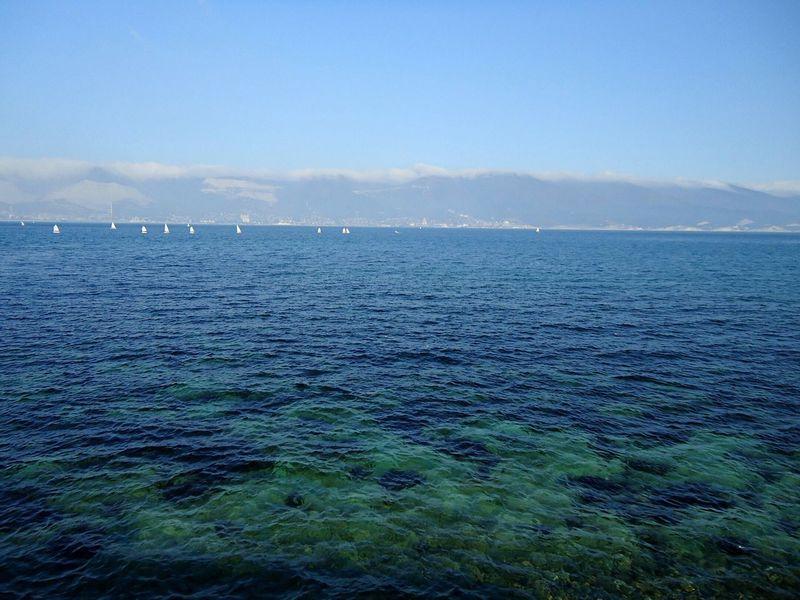 There's no photo editing. Без фоторедактирования. Море ноябрь новороссийск Novorossiysk Sea Mer November Autumn Blue