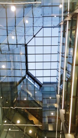View in the office today... Glass Highceilings Web Office Work View ViewfrOmbeLOw Architecture London Gloomy Reflections