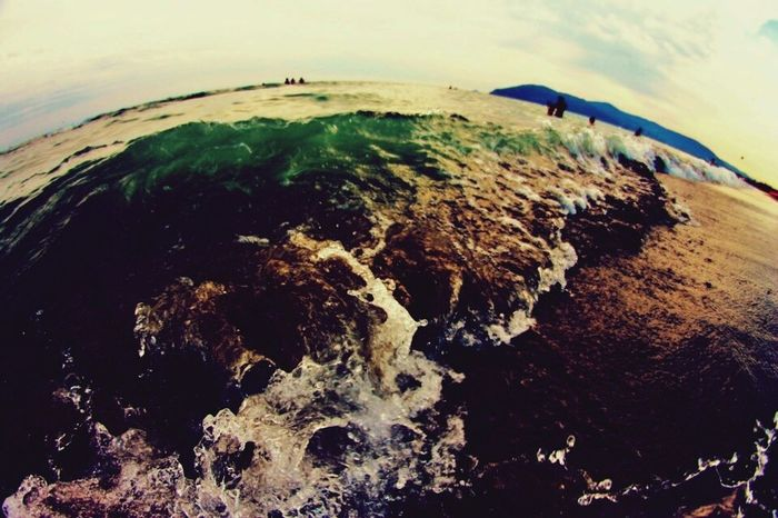 Sea Waves Beatch Spiaggia Onde Sunset Mare Toscana Carrara Summer Estate Fisheye Canon1100d