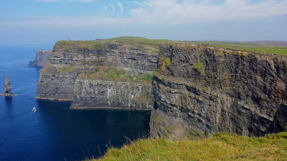 Beauty In Nature Cliff Clifs Of Moher Ireland Landscape Non-urban Scene Outdoors Rock Formation Scenics Travel Destinations Water The Great Outdoors - 2016 EyeEm Awards