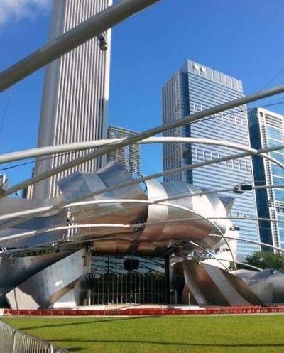 Amphitheater Architecture Chicago Concert Jay Pritzker Pavilion Millenium Park Modern Music Venue Structure Landscapes With WhiteWall