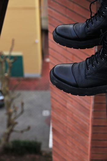 Shoes Shoes Another Point Of View Different Perspective On The Top Before Jumping Altitude No People Human Body Part Limb Human Leg Shoe Low Section One Person People