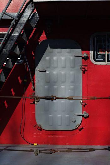 Hatch Red Red Color Grey 35mm Fujifilm X-Pro1 Tugboat The Weekend On EyeEm Port Dover Lake Erie Priime Eyem Best Shots EyeEm Best Edits