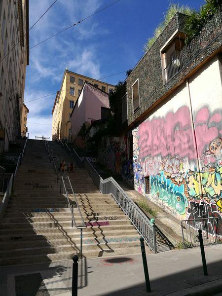 Graffiti Day Architecture Outdoors No People Sky Lyon❤ France 🇫🇷 Lyon France Cityscape Travel Destinations Colour Your Horizn