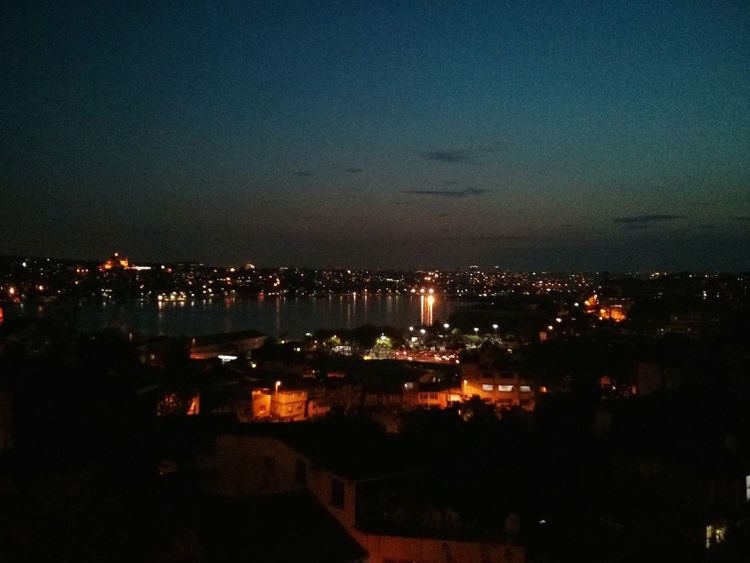 Istanbul at Nightfall. · Turkey City Lights Night Lights Night Photography Capitals  City Urban Landscape Skyline