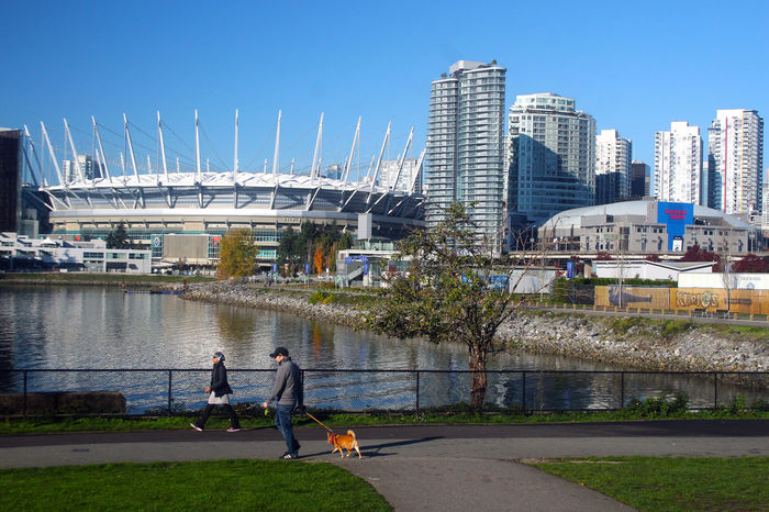 B.C. Place and False Creek in Vancouver B.C. Canada. BC Place Water No People Cityscape Vancouver Canada B.C Built Structure City Architecture