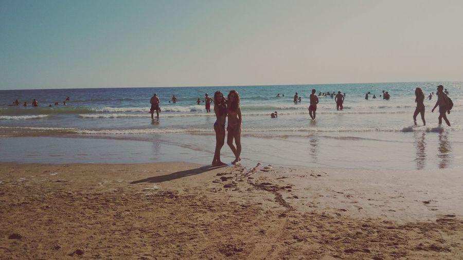 Enjoying Life Relaxing Beach Sunset Friendship Love