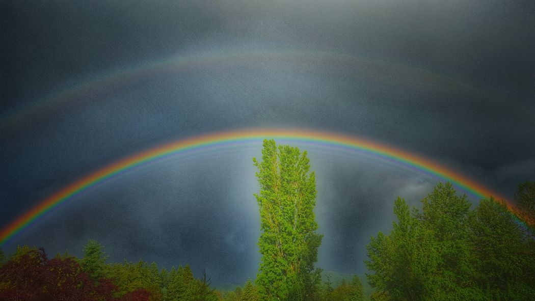 Rainbows created from today's rainstorm. KimberlyJTilley