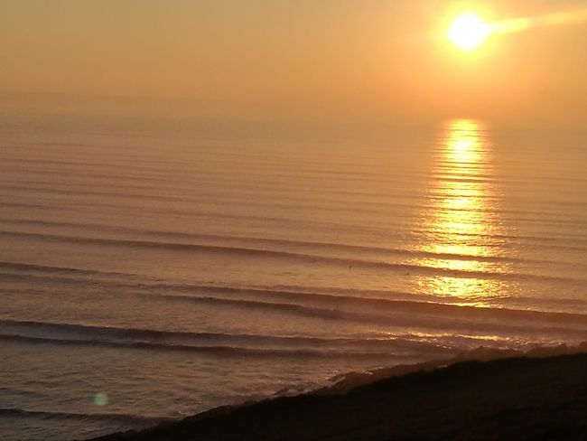 Sunset Sea Beach Orange Color Horizon Over Water Sun Wave Outdoors Sky Surfing Surf Water Darkness And Light Surfers Dusk Lines