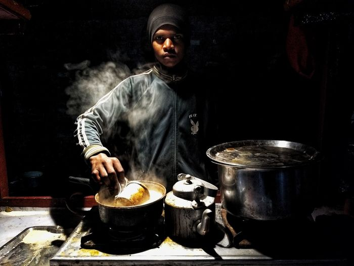 pyala- the tea stall Tea - Hot Drink Teastall Men Preparation  Stove Holding Front View Burner - Stove Top Cooking Pan Gas Stove Burner Tea Cup The Portraitist - 2018 EyeEm Awards The Street Photographer - 2018 EyeEm Awards
