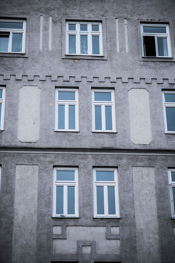 Apartment Architecture Bad Condition Balcony Building Building Exterior Built Structure City Day Deterioration Exterior Façade House Low Angle View Old Residential Building Residential Structure Ruined Window