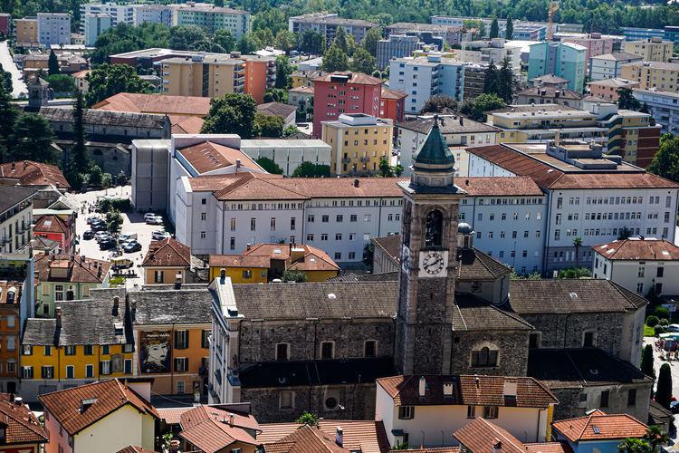 View on the collegiata di sant'antonio abate in locarno from orselina