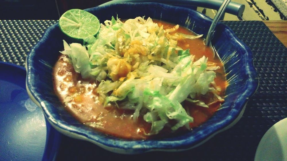 Food And Drink Food Indoors  No People Serving Size Temptation Table Pozole PozoleGoodness PozoleRojo Pozoletime Pozole Mexicano ❤ Ready-to-eat Plate