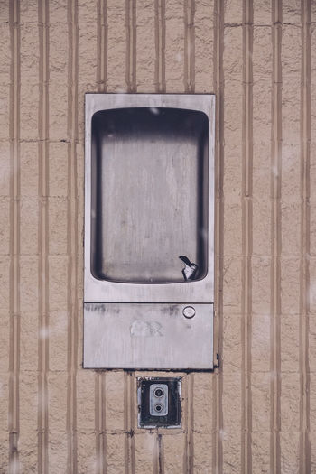 Directly above shot of abandoned drinking fountain