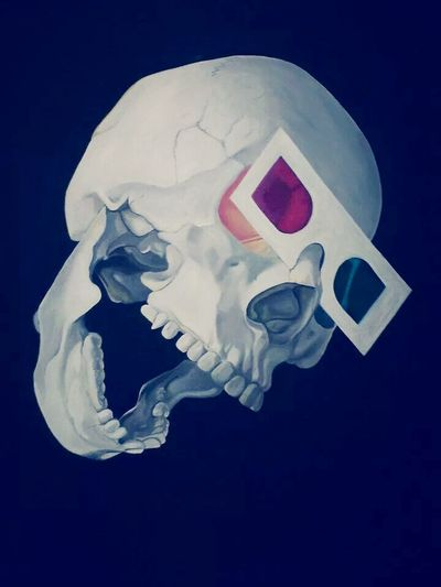 Art Oil Painting Check This Out Awesome my skull painting