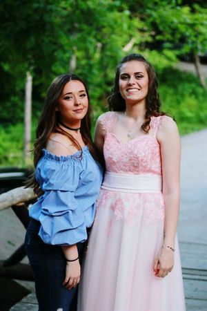 Long Hair Only Women Two People Togetherness Adult Three Quarter Length Mid Adult Women Adults Only Friendship Outdoors Smiling People Portrait Day Mature Adult Young Women Standing Candid Women Young Adult