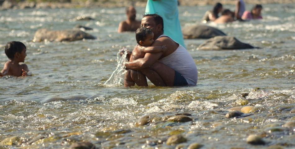 Beautylieseverywhere Delta Family Family❤ Ganga Happiness Holy Bath Holy Ganga India Jim Corbett Kosi River Love Parenting Parents Parents And Children Rishikesh River