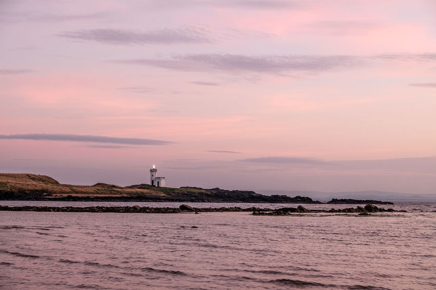 Dusk ELIE Firth Of Forth Golden Hour Lighthouse Nature Outdoors Rocks Schottland Sea Shore Sky Water