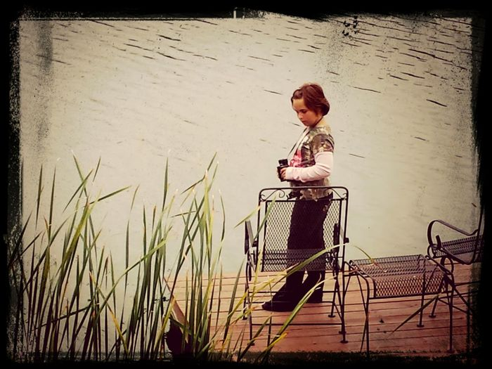 My baby girl looking at ducks My Beautiful Daughter EyeEm Nature Lover Pond DUCKS :)